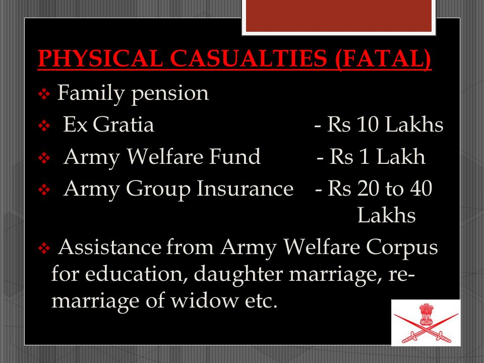 PHYSICAL CASUALTIES (FATAL)