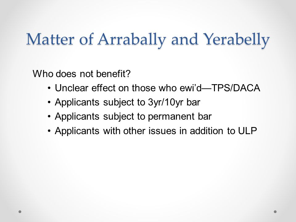 Matter of Arrabally and Yerabelly