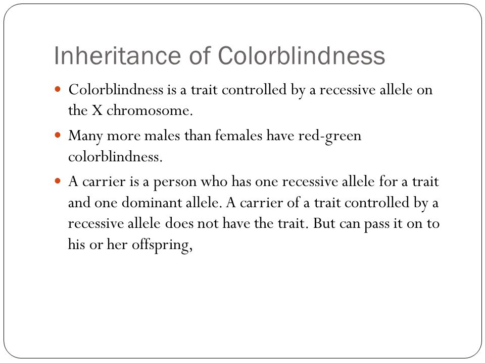 Inheritance of Colorblindness