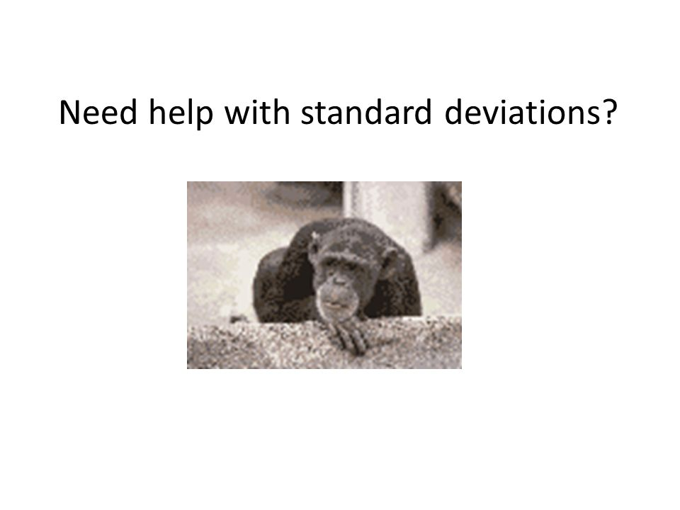 Need help with standard deviations