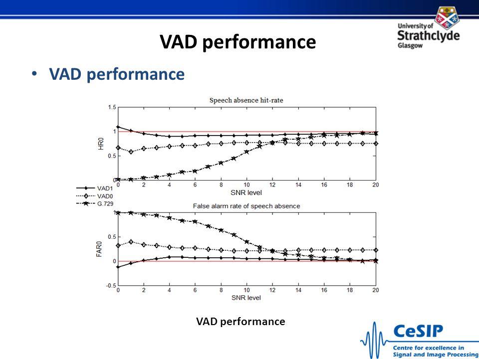 VAD performance VAD performance VAD performance