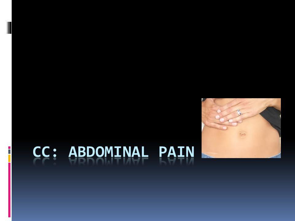 CC: Abdominal pain