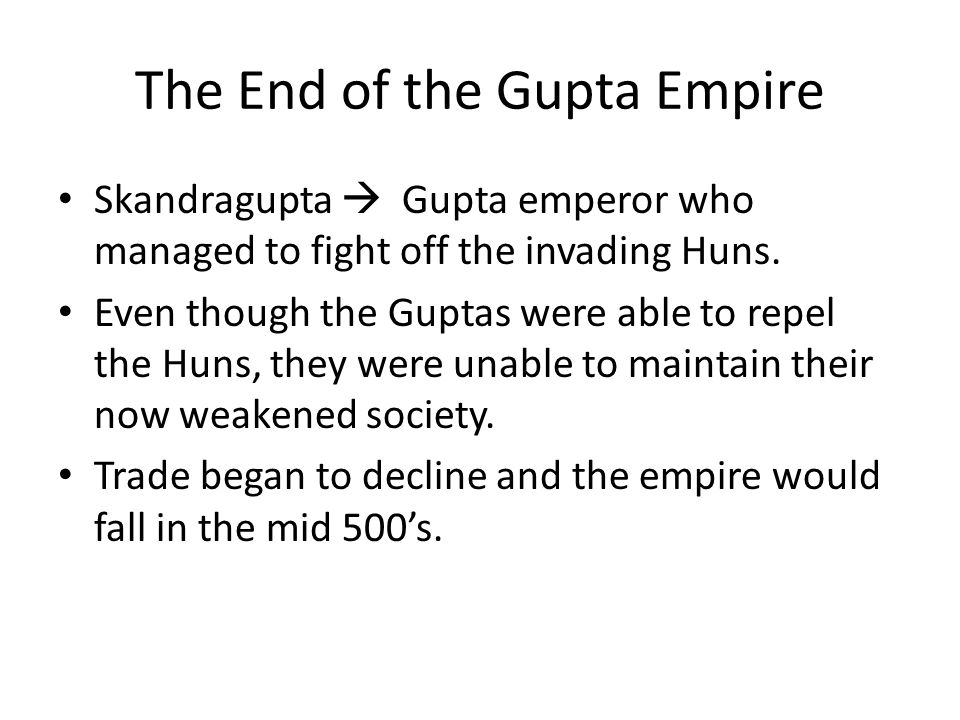 The End of the Gupta Empire