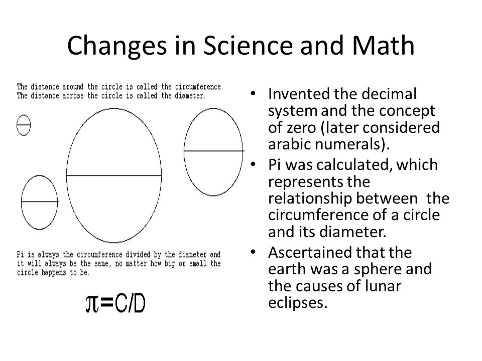 Changes in Science and Math
