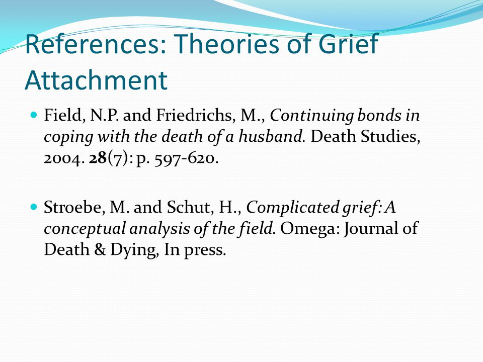 References: Theories of Grief Attachment