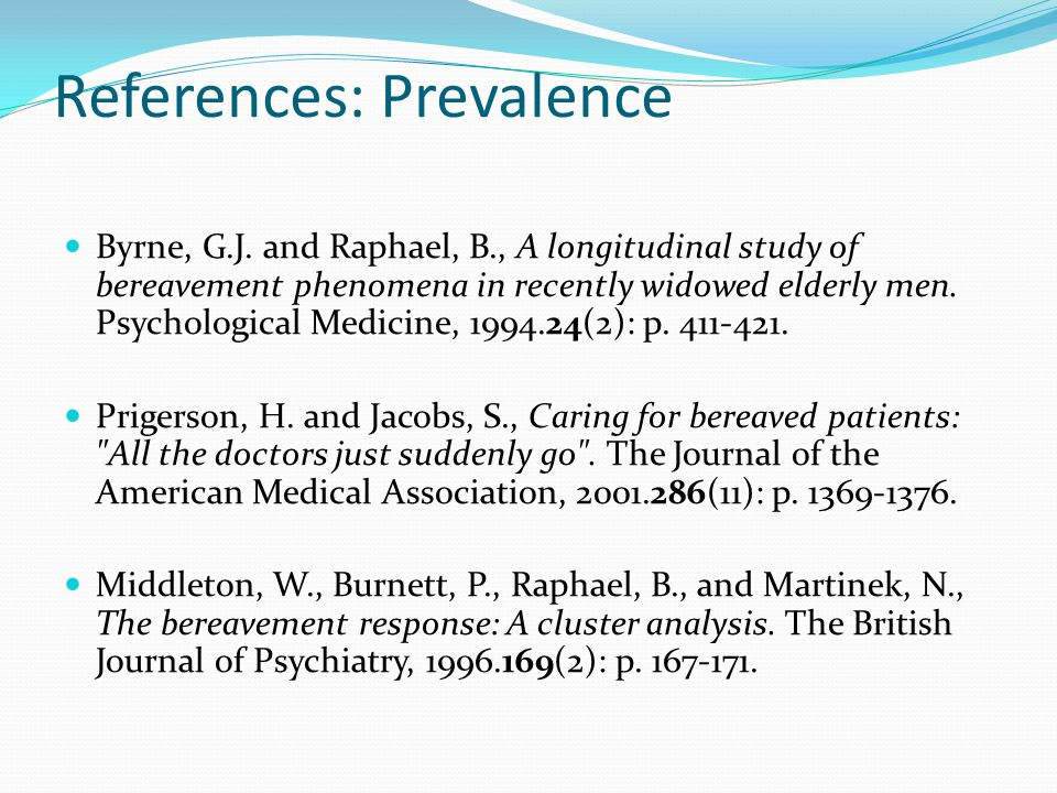 References: Prevalence