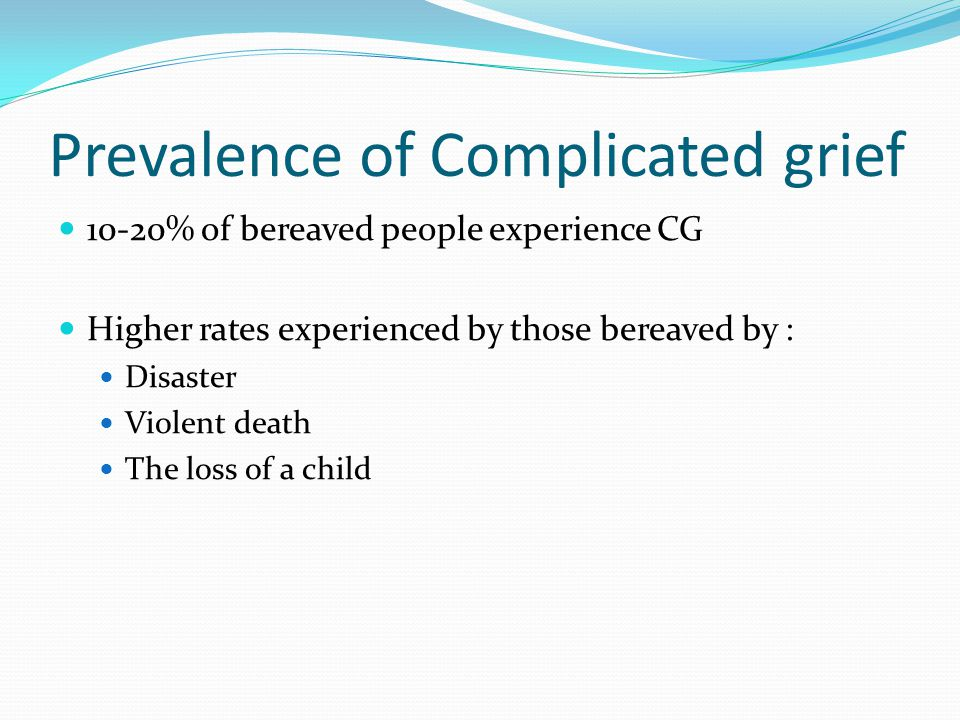 Prevalence of Complicated grief