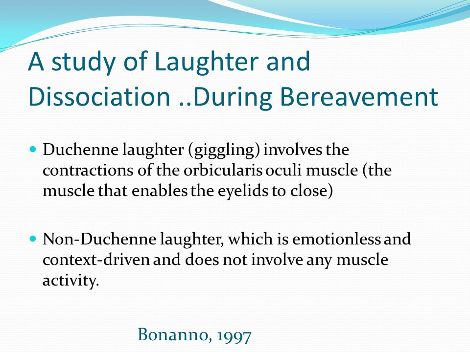 A study of Laughter and Dissociation ..During Bereavement