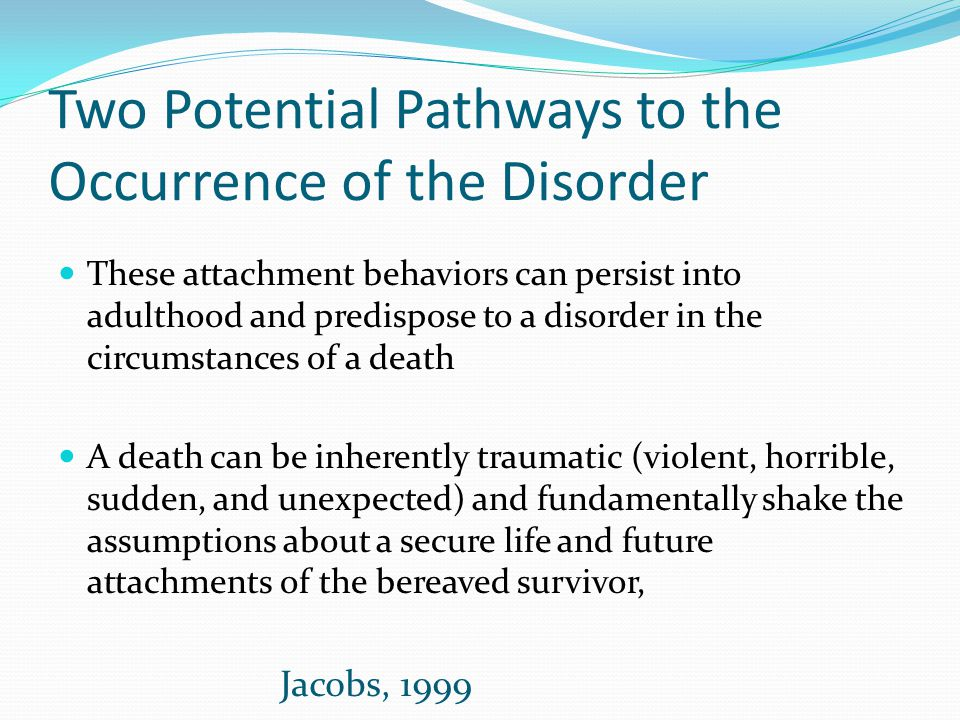 Two Potential Pathways to the Occurrence of the Disorder