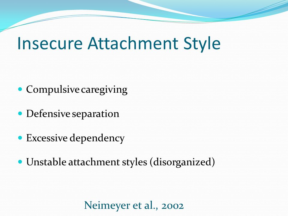 Insecure Attachment Style