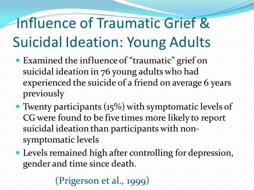Influence of Traumatic Grief & Suicidal Ideation: Young Adults