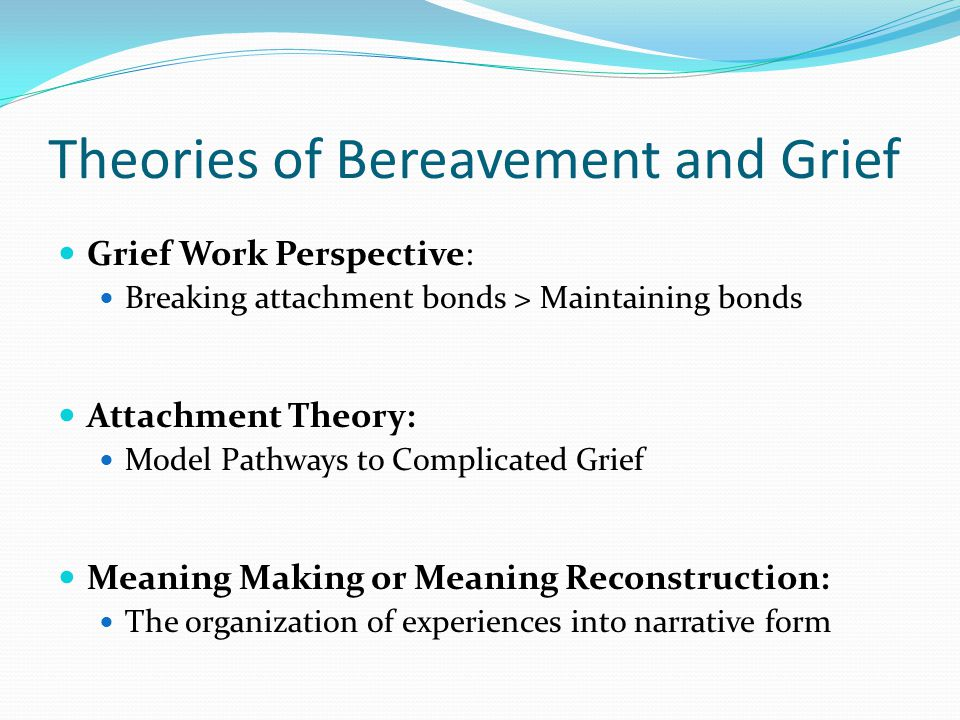 Theories of Bereavement and Grief