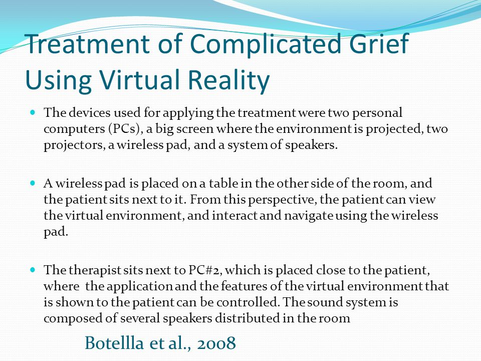 Treatment of Complicated Grief Using Virtual Reality