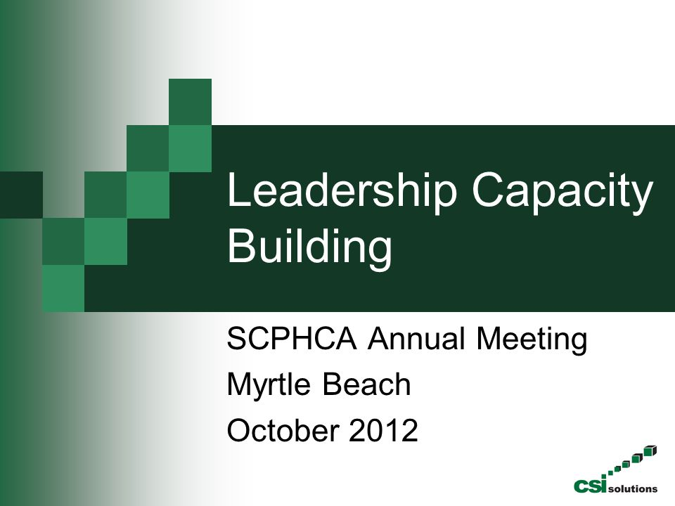 Leadership Capacity Building