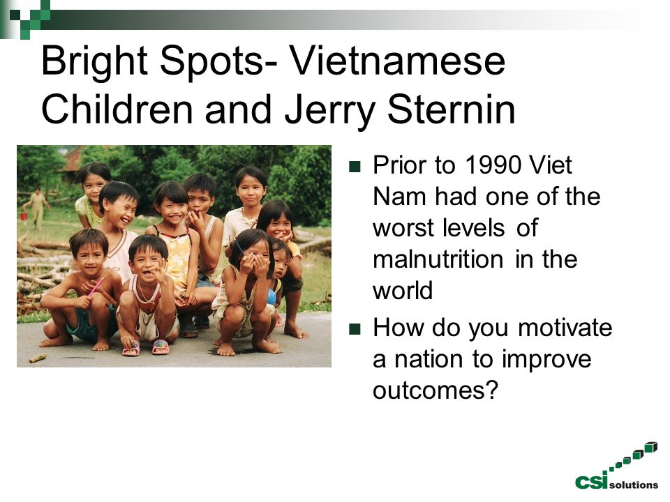Bright Spots- Vietnamese Children and Jerry Sternin