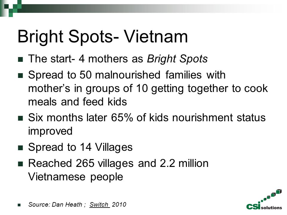 Bright Spots- Vietnam The start- 4 mothers as Bright Spots