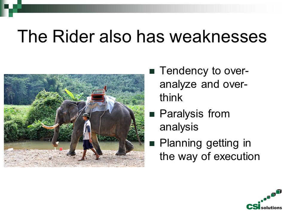 The Rider also has weaknesses