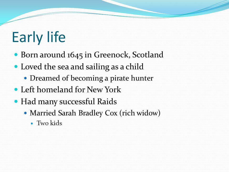 Early life Born around 1645 in Greenock, Scotland