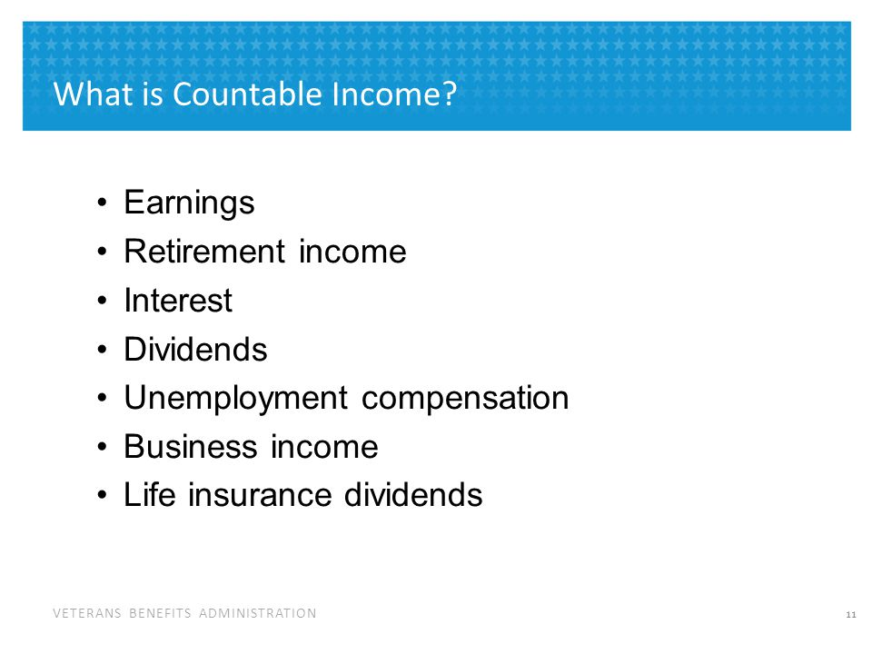 What is Not Countable Income for VA Purposes