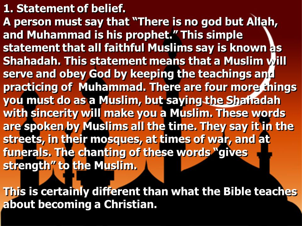 1. Statement of belief.