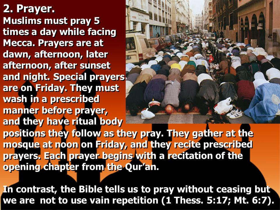 2. Prayer.