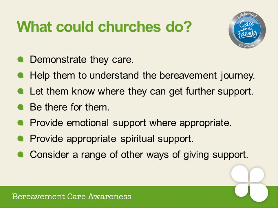 What could churches do Demonstrate they care.