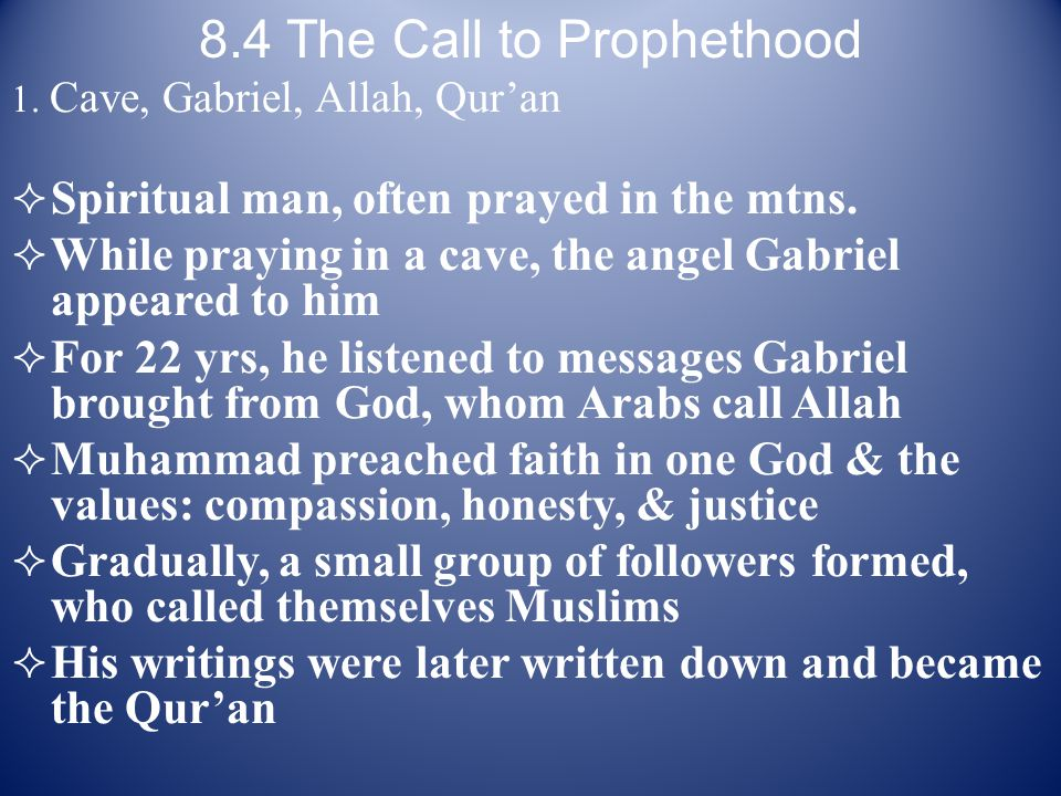 8.4 The Call to Prophethood
