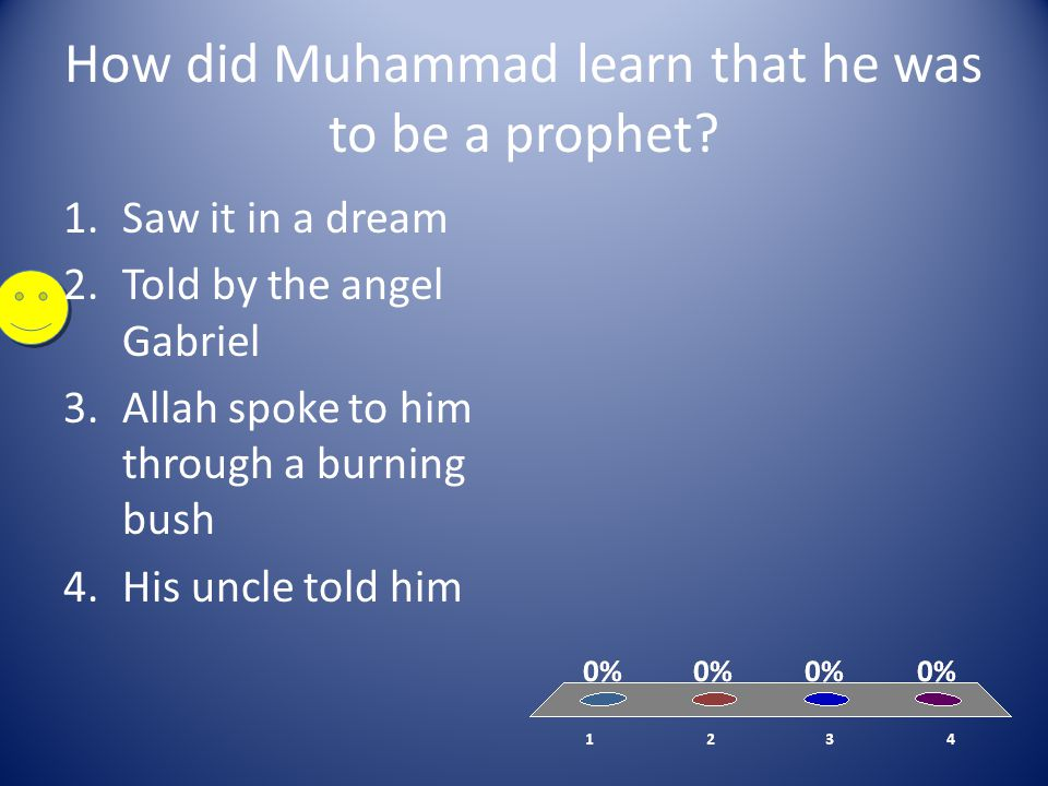 How did Muhammad learn that he was to be a prophet