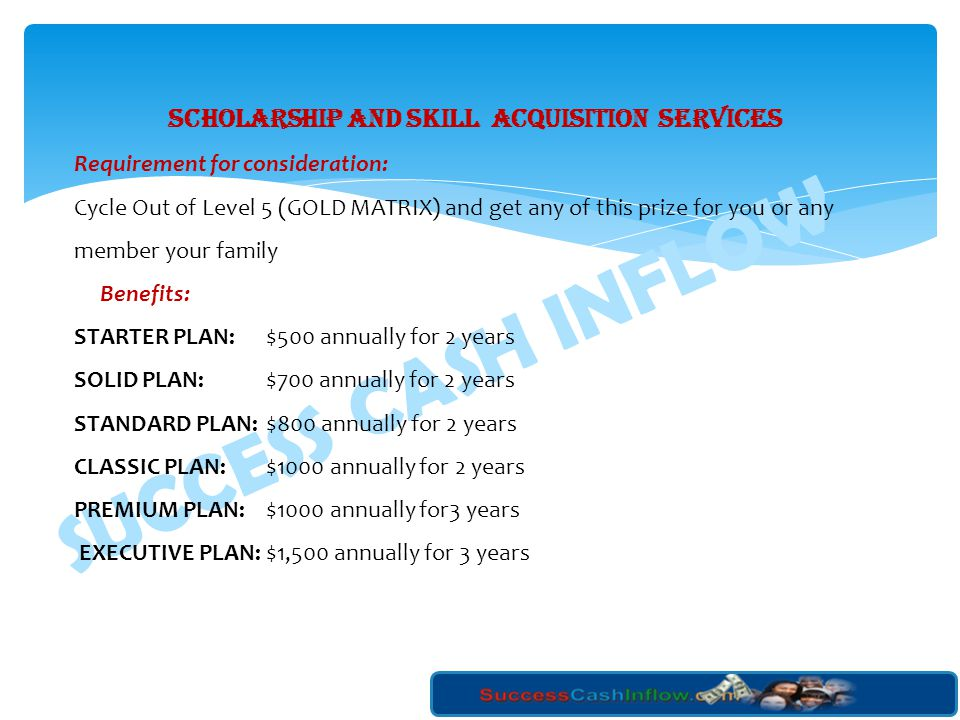 SCHOLARSHIP AND SKILL ACQUISITION SERVICES