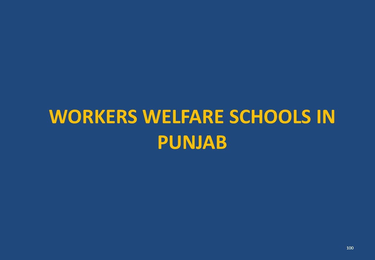 WORKERS WELFARE SCHOOLS IN PUNJAB