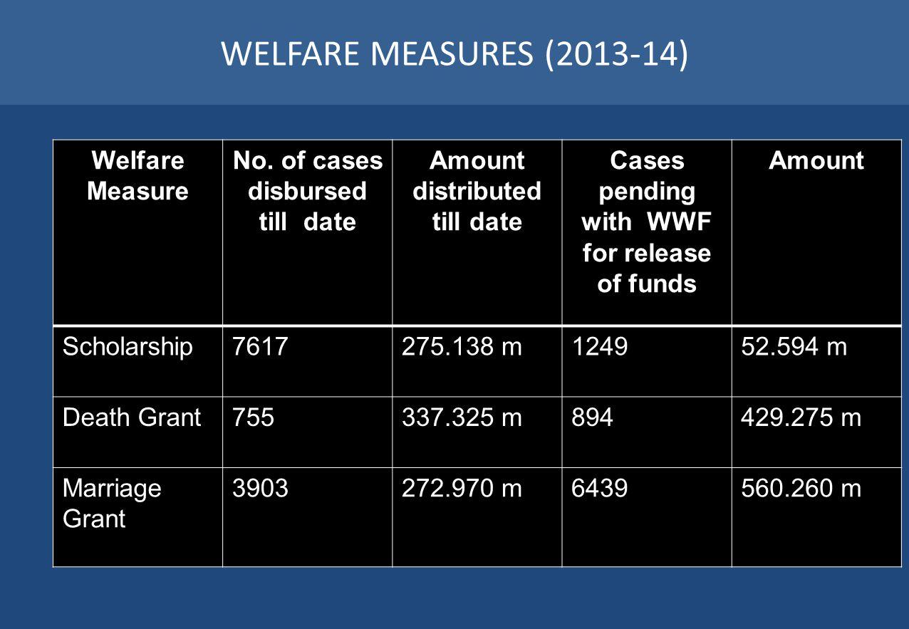 WELFARE MEASURES (2013-14) Welfare Measure