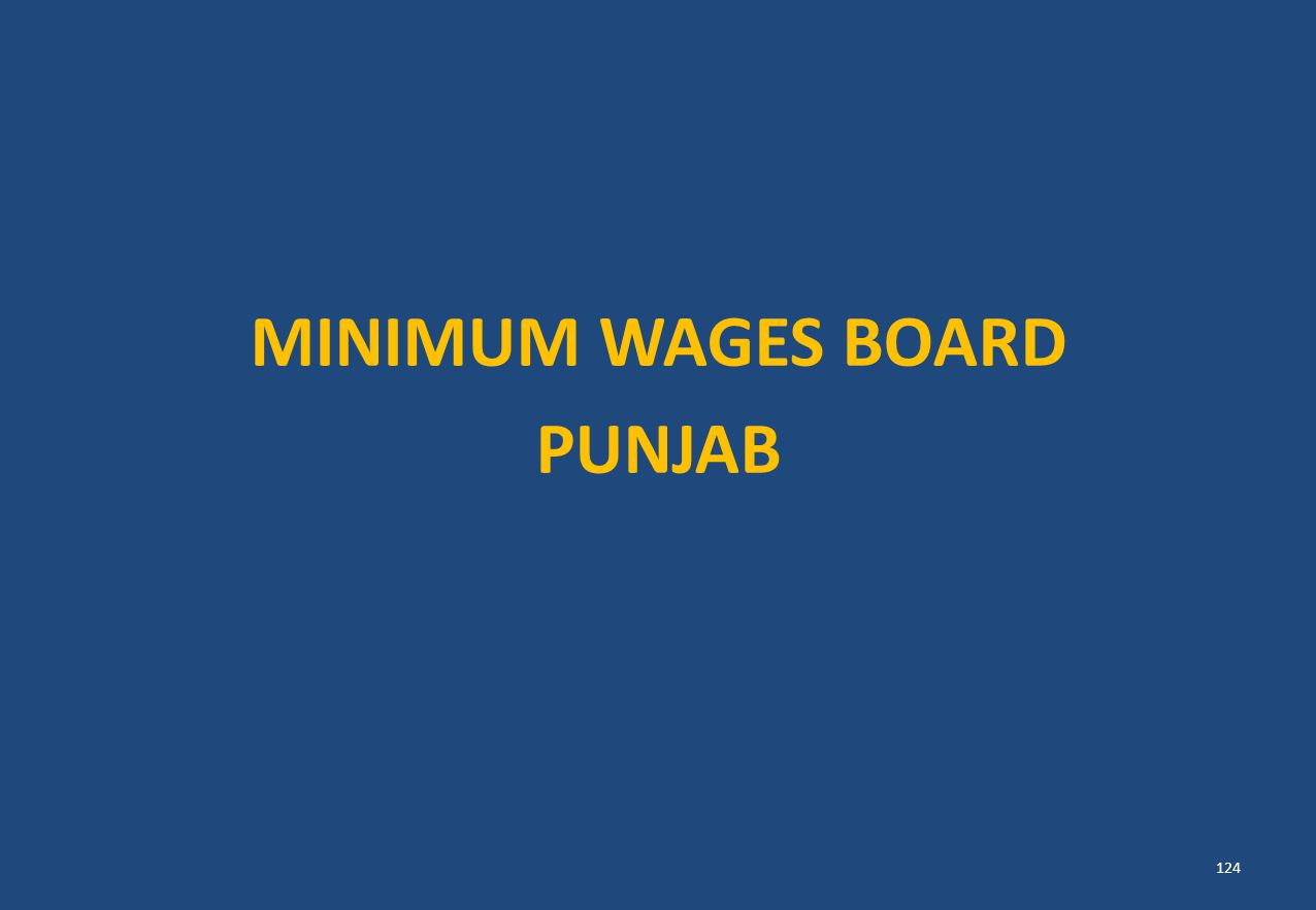 MINIMUM WAGES BOARD PUNJAB