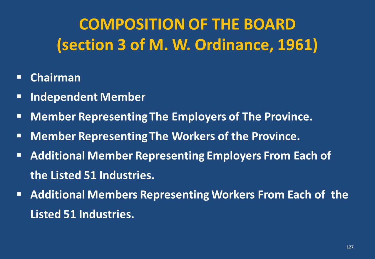 (section 3 of M. W. Ordinance, 1961)