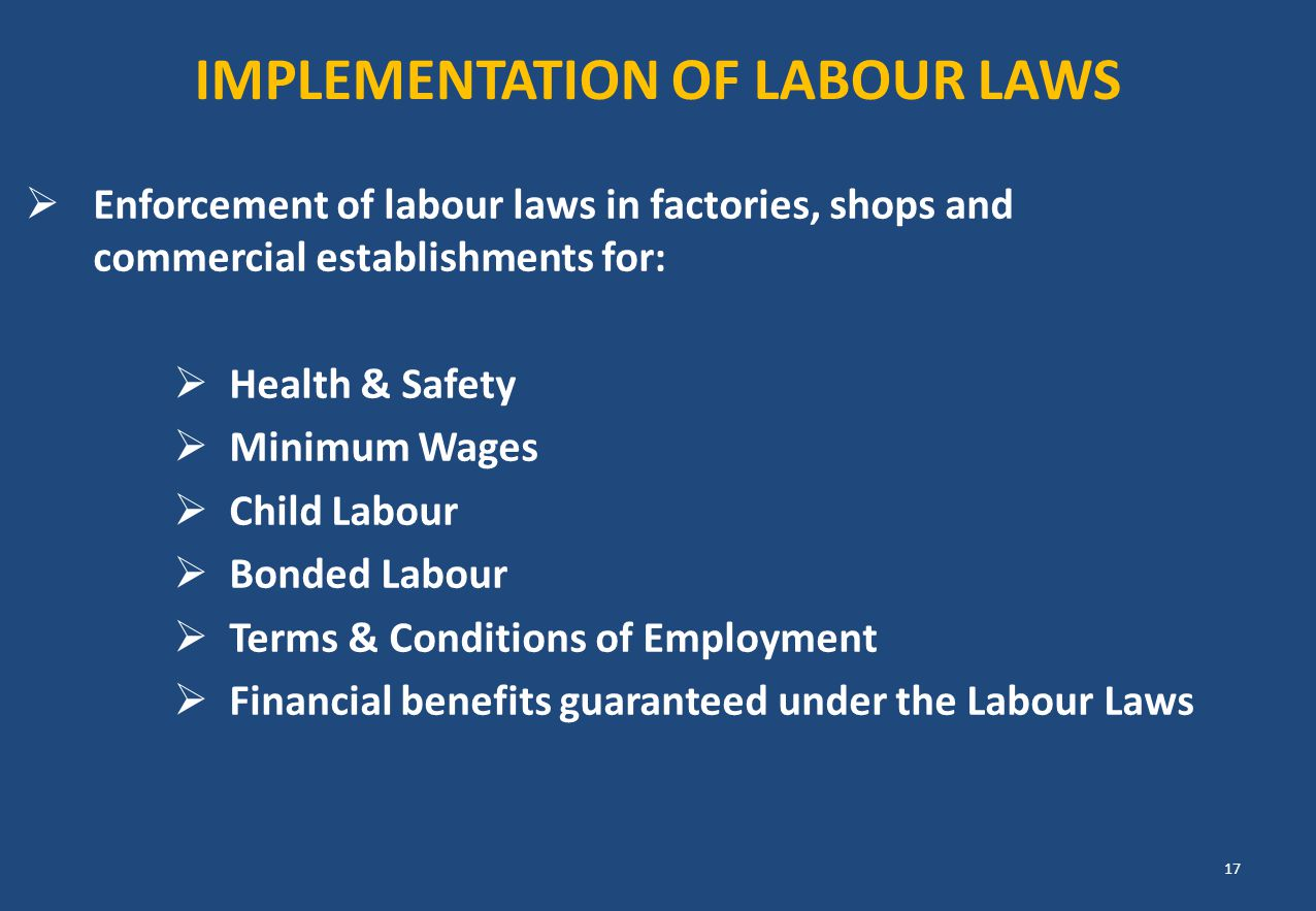 Implementation of labour laws