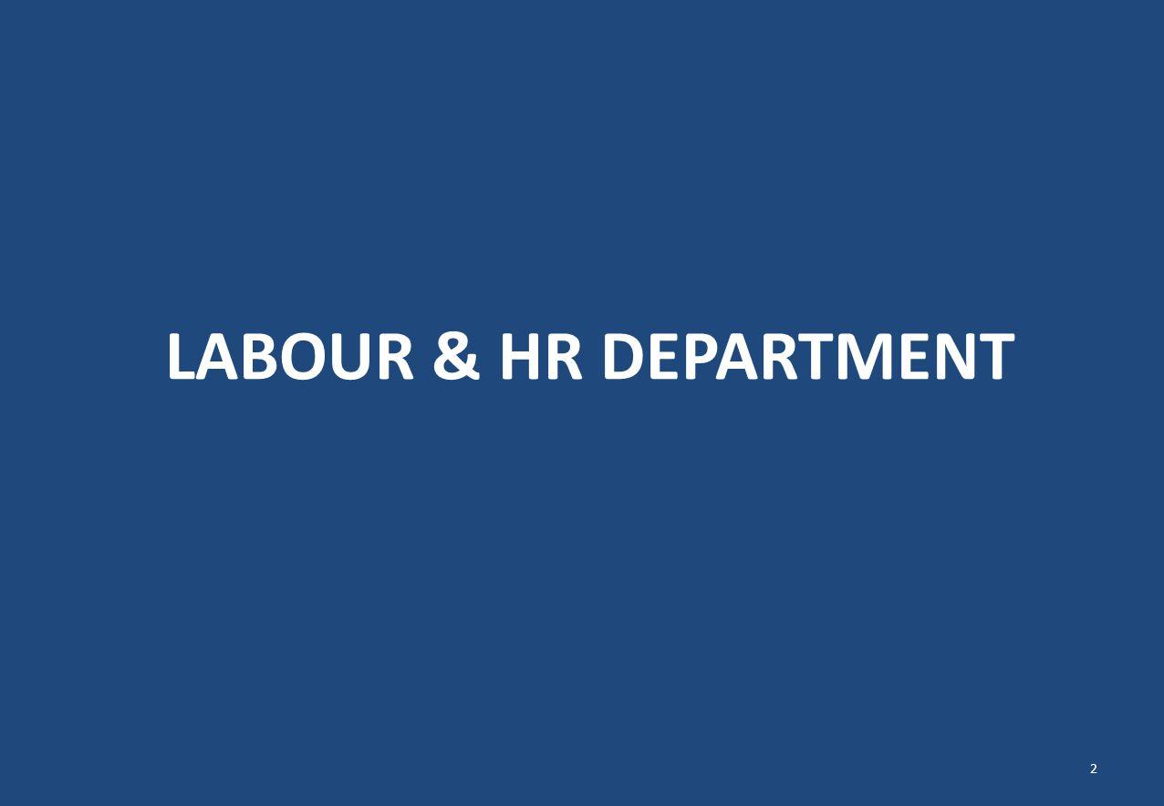 LABOUR & HR DEPARTMENT