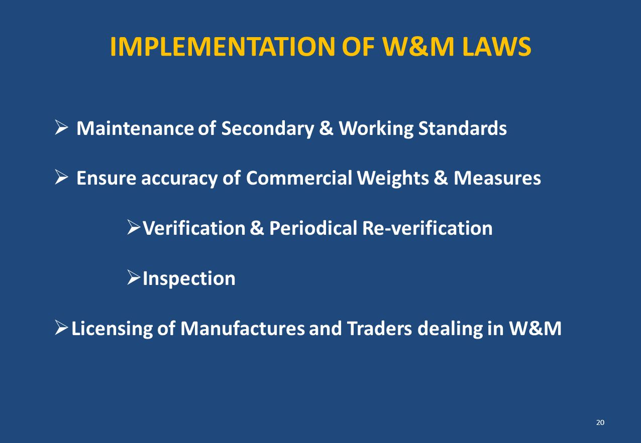 IMPLEMENTATION OF W&M LAWS
