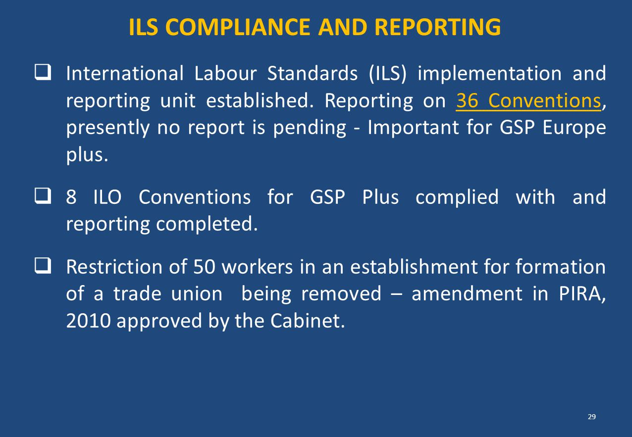 Ils Compliance and reporting
