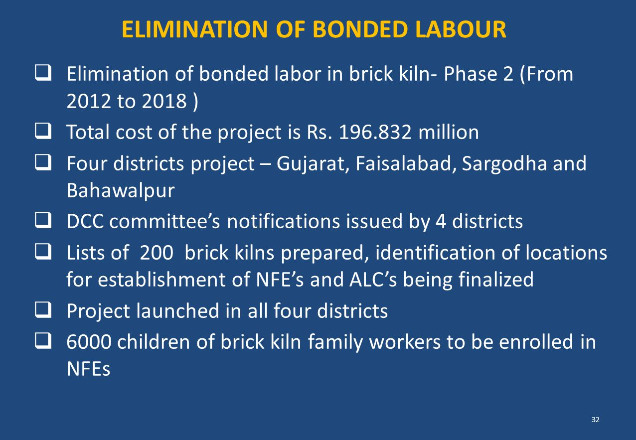ELIMINATION OF Bonded Labour