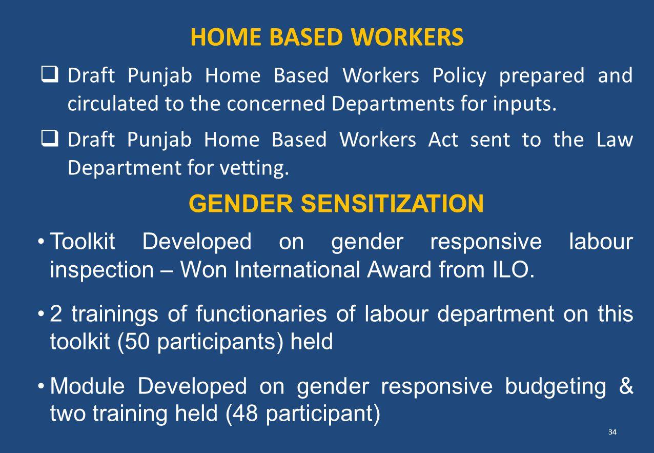 Home Based Workers Gender SENSITIZATION