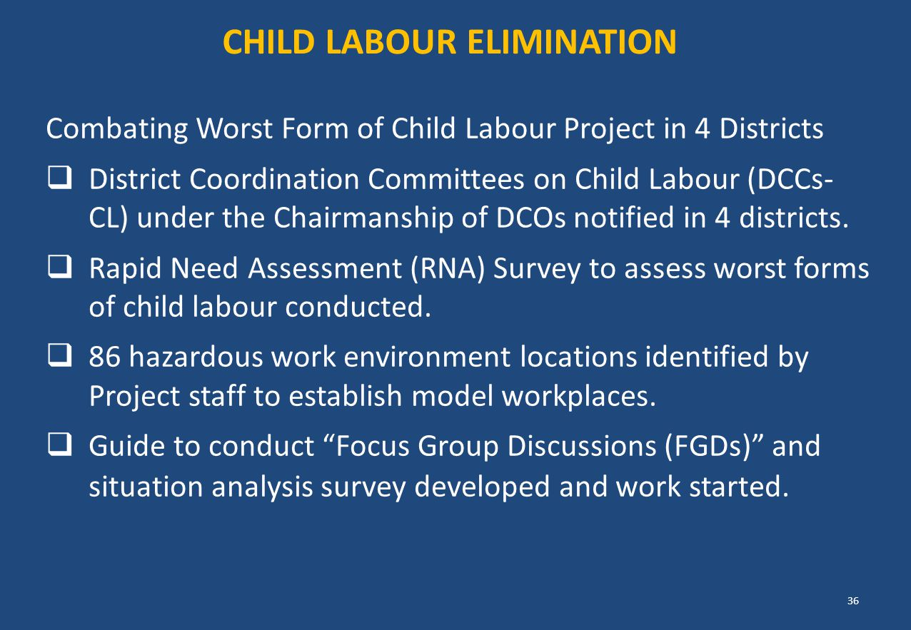 Child Labour ELIMINATION
