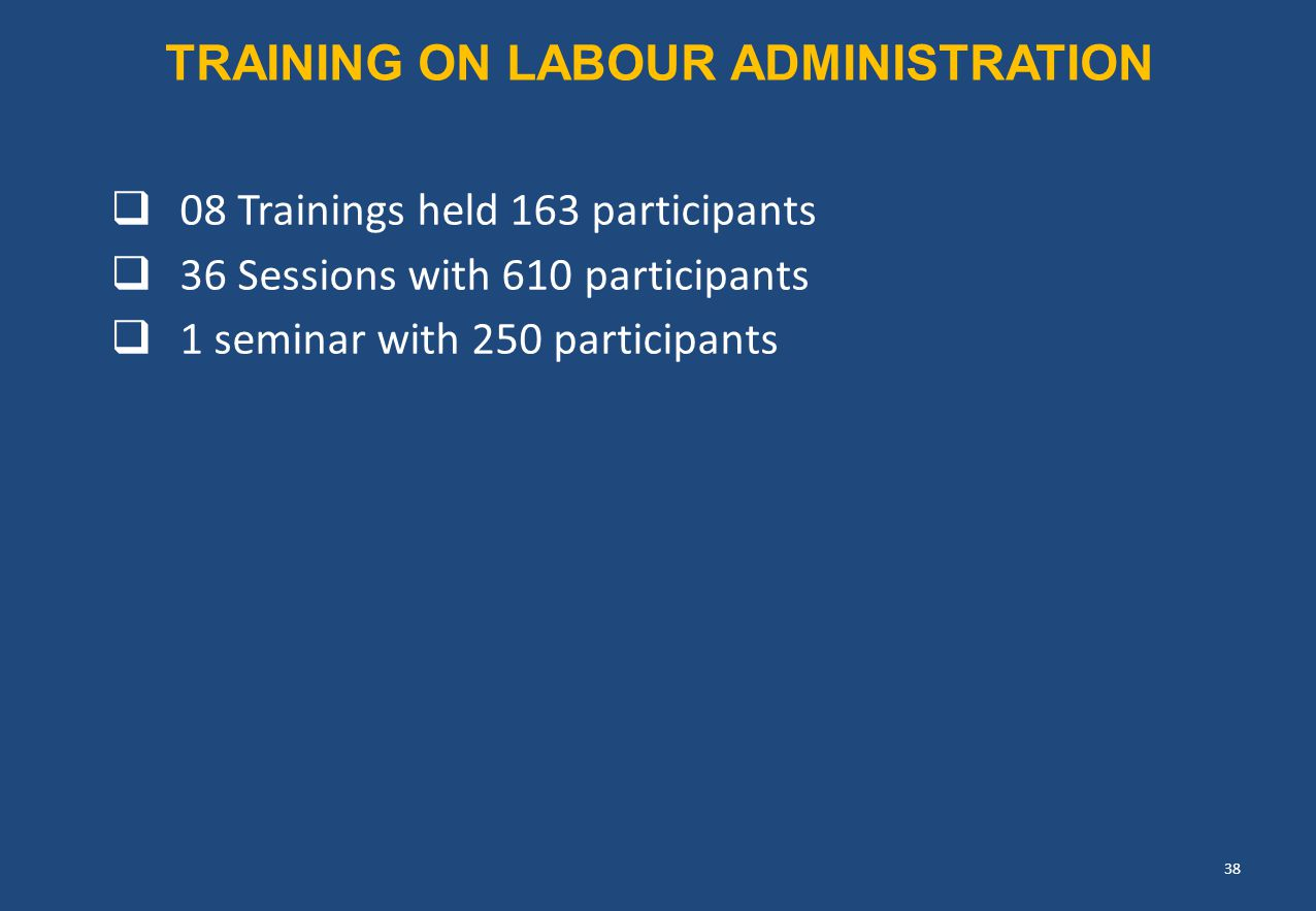 TRAINING ON Labour Administration