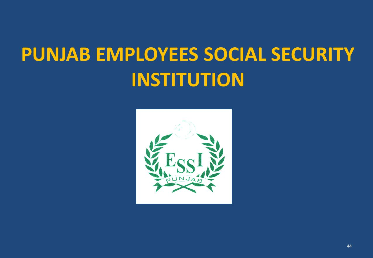 PUNJAB EMPLOYEES SOCIAL SECURITY INSTITUTION