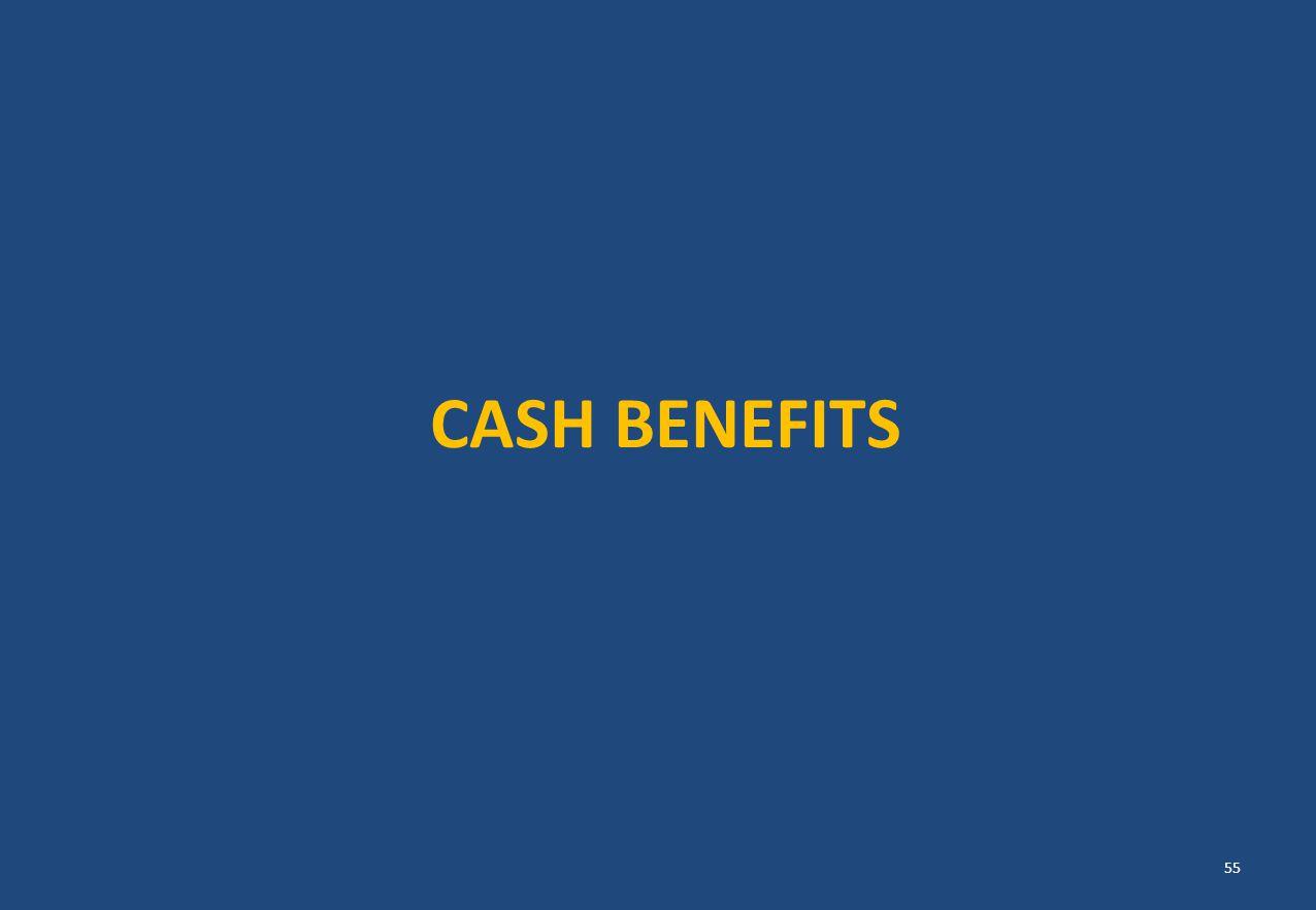 CASH BENEFITS