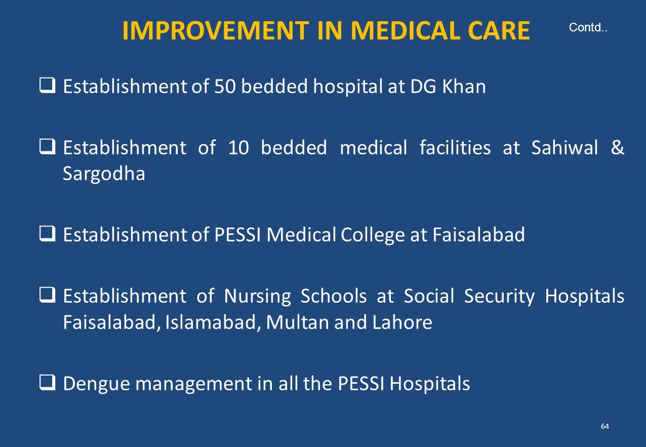 IMPROVEMENT IN MEDICAL CARE