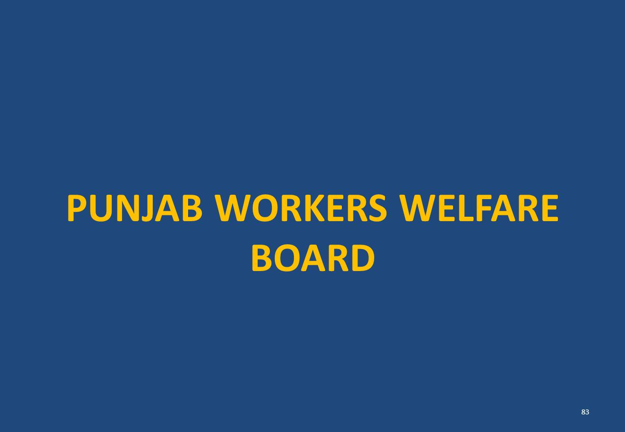 PUNJAB WORKERS WELFARE BOARD