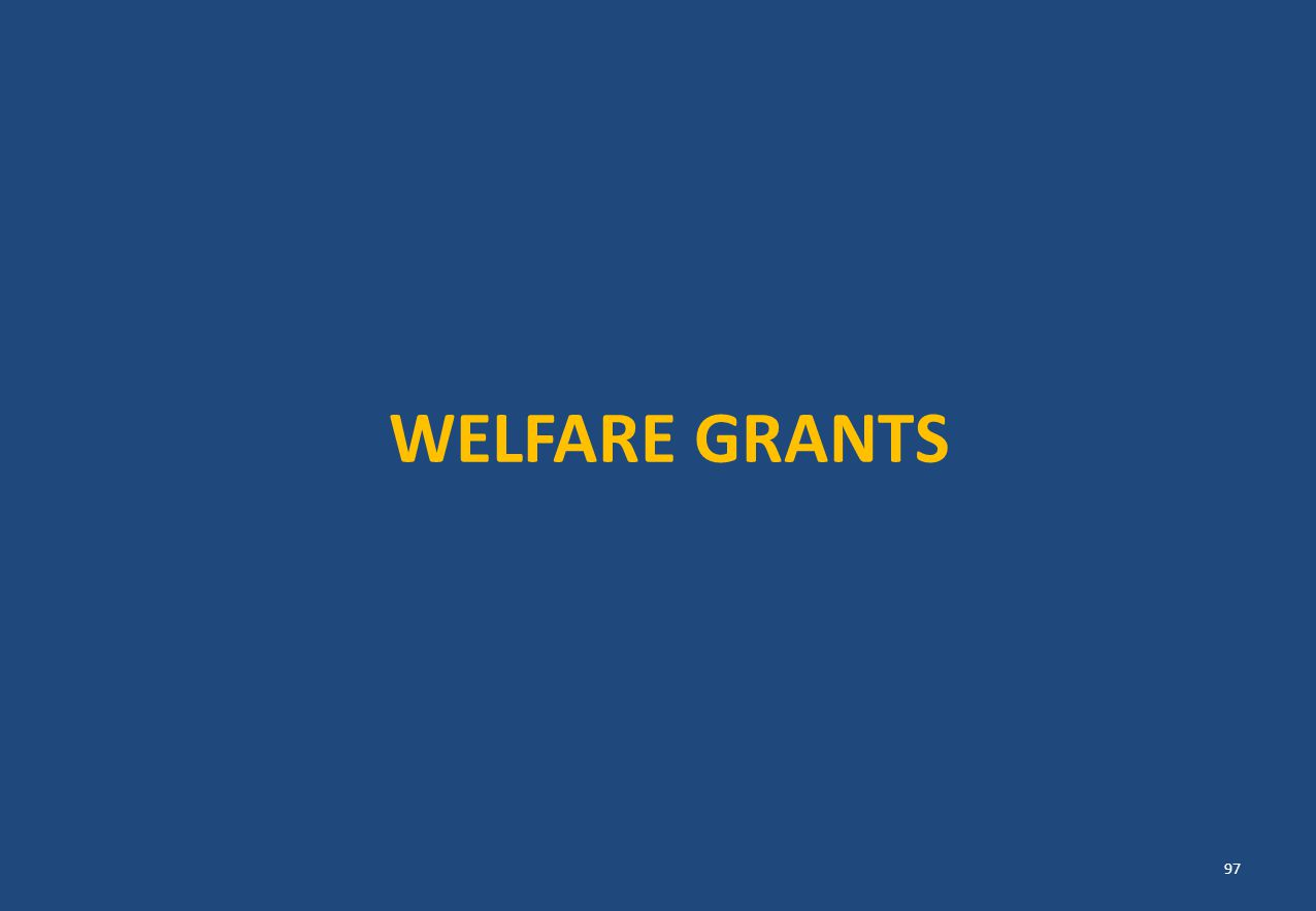 WELFARE GRANTS