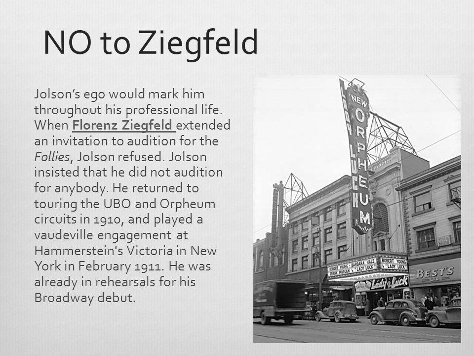 NO to Ziegfeld