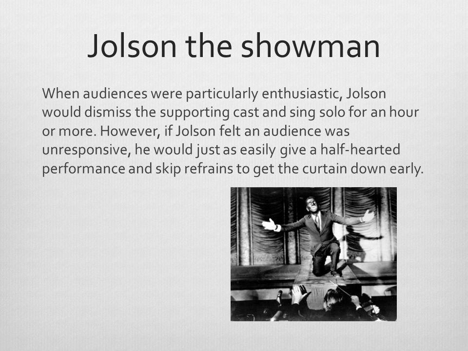 Jolson the showman