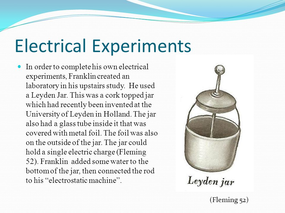 Electrical Experiments