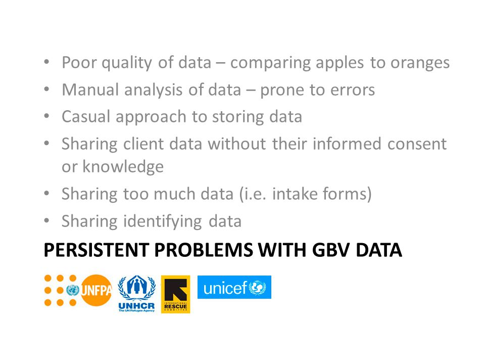 Persistent Problems with GBV Data